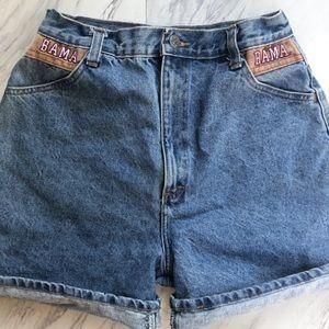 Vintage Alabama High Waisted Jean Shorts
